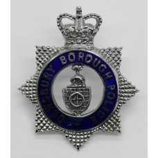 Dewsbury Borough Police Senior Officer's Enamelled Cap Badge - Qu