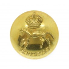 Berkshire Yeomanry Officer's Button - King's Crown (26mm)