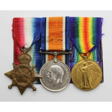 WW1 1914-15 Star, British War & Victory Medal Trio - Pte. A. Rothwell, 8th Bn. (Leeds Rifles) West Yorkshire Regiment - Died of Wounds (Age 17)