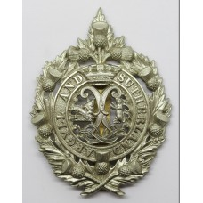 Argyll & Sutherland Highlanders Fretted Out Pagri Badge