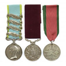 1854 Crimea Medal (4 Clasps - Alma, Inkermann, Balaklava, Sebastopol), LS&GC and Turkish Crimea Medal Group of Three - Cpl. T. Loader, Grenadier Guards