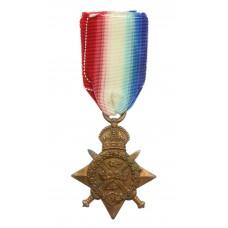WW1 1914 Mons Star - Dvr. P. Evans, Royal Engineers