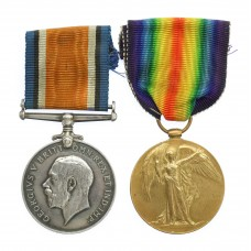 WW1 British War & Victory Medal Pair - Pte. G. Swift, Notts & Derby Regiment (Sherwood Foresters)