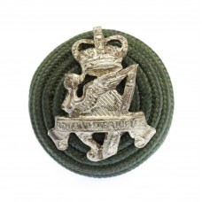 Royal Ulster Rifles Officer's Green Cord Cap Boss Badge - Queen's Crown (c.1953-68)