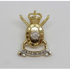 Hampshire Yeomanry (Carabiniers)  Anodised (Staybrite) Collar Badge