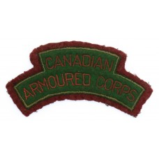 WW2 Canadian Armoured Corps (CANADIAN/ARMOURED CORPS) Cloth Shoulder Title