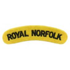Royal Norfolk Regiment (ROYAL NORFOLK) Cloth Shoulder Title