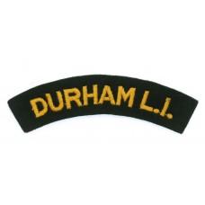 Durham Light Infantry (DURHAM L.I.) Cloth Shoulder Title