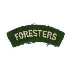 Notts & Derby Regiment (FORESTERS) Cloth Shoulder Title
