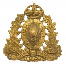 Royal Canadian Mounted Police (R.C.M.P.) Cap Badge - King's Crown