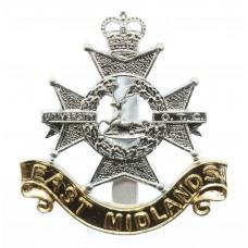 East Midland University O.T.C. Anodised (Staybrite) Cap Badge