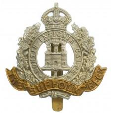Suffolk Regiment Cap Badge - King's Crown