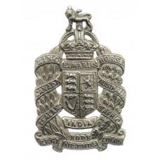 King Edward's Horse White Metal Cap Badge - King's Crown