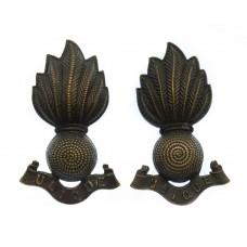 Pair of Royal Artillery Officer's Bronze Collar Badges