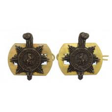 Pair of Queen's Regiment Collar Badges