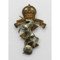 Royal Electrical & Mechanical Engineers (R.E.M.E.) Cap Badge - King's Crown (2nd Pattern)