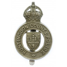 Huntingdon County Police (Huntingdonshire County Constabulary) Cap Badge - King's Crown
