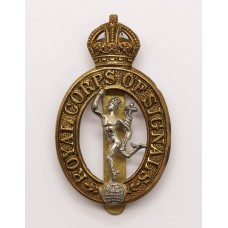 Royal Corps of Signals Cap Badge - King's Crown (1st Pattern)