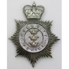 Hull City Police Helmet Plate - Queen's Crown