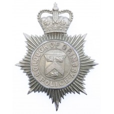 Grimsby Borough Police Helmet Plate - Queen's Crown