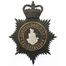 Huntingdonshire County Constabulary Night Helmet Plate - Queen's