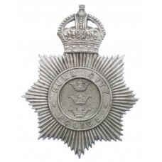 Hull City Police Helmet Plate - King's Crown