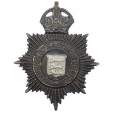 Borough of Hastings Police Night Helmet Plate - King's Crown