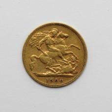 1900 Victoria 22ct Gold Half Sovereign Coin
