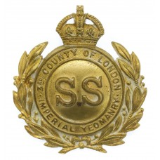 Scarce Edwardian 3rd County of London Imperial Yeomanry (Sharp Shooters) Cap Badge