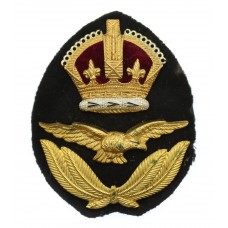 Royal Air Force (R.A.F.) Officer's Cap Badge - King's Crown
