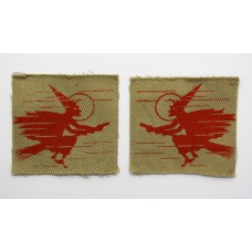 Pair of WW2 2nd Anti-Aircraft Division Printed Formation Signs (1st Pattern)