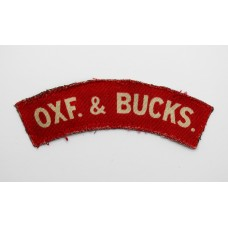 Scarce Oxfordshire & Buckinghamshire Light Infantry (OXF. & BUCKS.) Printed Shoulder Title