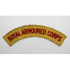 Royal Armoured Corps (ROYAL ARMOURED CORPS) WW2 Printed Shoulder Title
