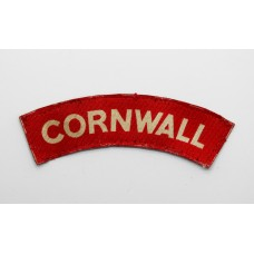 Duke of Cornwall's Light Infantry (CORNWALL) WW2 Printed Shoulder Title