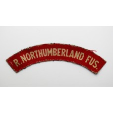 Royal Northumberland Fusiliers (R. NORTHUMBERLAND FUS.) WW2 Printed Shoulder Title