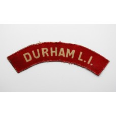 Durham Light Infantry (DURHAM L.I.) WW2 Printed Shoulder Title