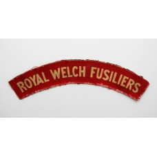 Royal Welch Fusiliers (ROYAL WELCH FUSILIERS) WW2 Printed Shoulder Title