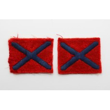 Pair of 124th Light Anti-Aircraft Regiment Royal Artillery Cloth Formation Signs