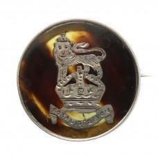 WW1 Royal 1st Devon Yeomanry 1916 Hallmarked Silver & Tortois