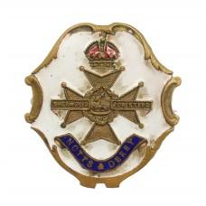 WW1 Notts & Derby Regiment (Sherwood Foresters) Enamelled Swe