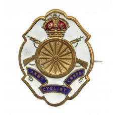 WWI Army Cyclist Corps Enamelled Sweetheart Brooch