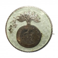 WWI Northumberland Fusiliers Sterling Silver & Guilloche Enam
