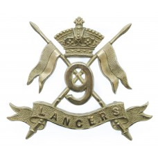 Victorian 9th Queen's Royal Lancers Cap Badge