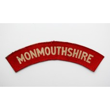 Monmouthshire Regiment (MONMOUTHSHIRE) WW2 Printed Shoulder Title