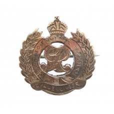 George V Royal Engineers Gold on Silver Sweetheart Brooch