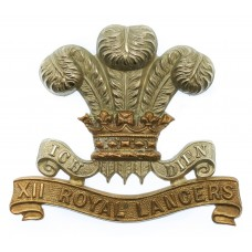 Victorian 12th (Prince of Wales's) Royal Lancers Cap Badge