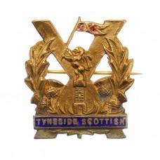 Tyneside Scottish Brass & Enamel Sweetheart Brooch