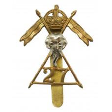 27th Lancers Cap Badge - King's Crown