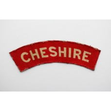 Cheshire Regiment (CHESHIRE) WW2 Printed Shoulder Title