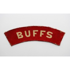East Kent Regiment (BUFFS) WW2 Printed Shoulder Title